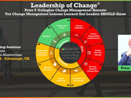 Peter F Gallagher Change Management Keynote - Edinburgh, UK