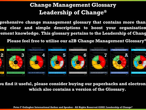 a2B Change Management Glossary - Now More than 200 Terms
