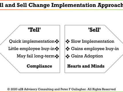 Change Implementation Approaches – 'Tell' versus 'Sell'