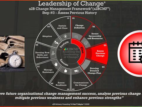 a2B Change Management Framework® (a2BCMF®) - Step #3: Assess Previous Change