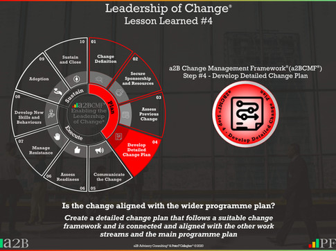 Leadership of Change - #4 Lesson Learned
