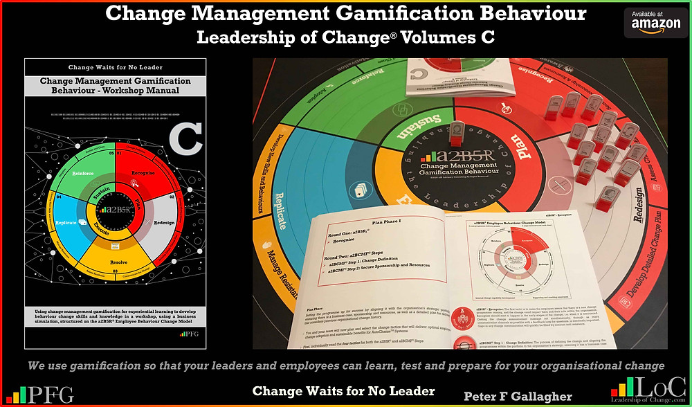 change management gamification behaviour a2B5R, change management gamification peter f gallagher, You cannot implement a change into an organisation that runs counter to its culture without focusing on behaviour change, peter f gallagher change management expert speaker global thought leader, change manager handbook, change management adoption, change management leadership, change management behaviour,