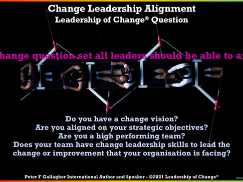 Change Leadership Alignment: Are you Aligned to Deliver Your Organisation's Change?
