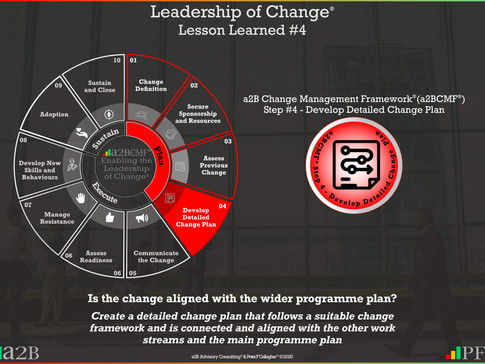Leadership of Change® - #4 Lesson Learned