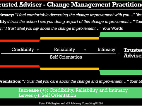 Trusted Adviser - Change Management Practitioner