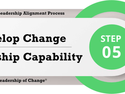 Change Leadership Alignment Process Step 5: Develop Change Leadership Capability