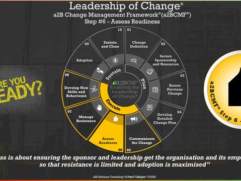 a2B Change Management Framework® (a2BCMF®) - Step #6: Assess Readiness