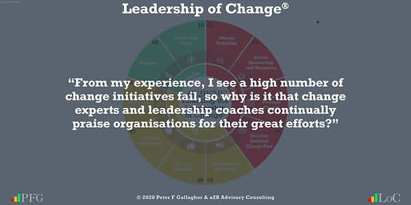 "Change Management Quotes, Change Management Quotes Peter F Gallagher, ""From my experience, I see a high number of change initiatives fail, so why is it that change experts and leadership coaches continually praise organisations for their great efforts?"" ~ Peter F Gallagher Change, Peter F Gallagher Change Management Expert Speaker and Global Thought Leader,"