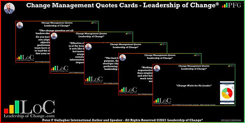 Change Management Quotes, Change Management Quote Cards, Change Management Quotes Peter F Gallagher, Peter F Gallagher Change Management Expert Speaker and Global Thought Leader,