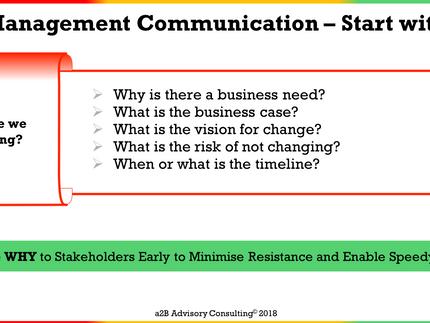 Change Management Communication - Stakeholder Information Needs
