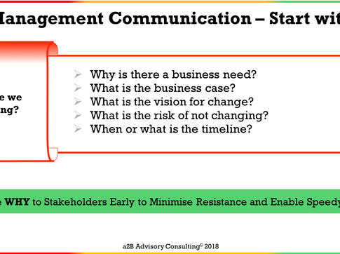 Change Management Communication - Stakeholder Information Needs
