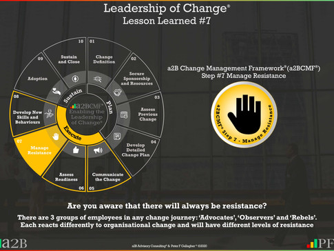 Leadership of Change - #7 Lesson Learned
