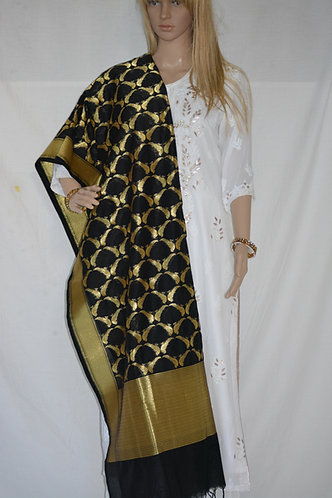 Banarasi black and gold