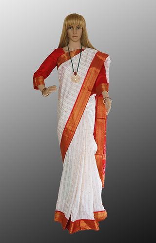 Sambalpuri white and Red