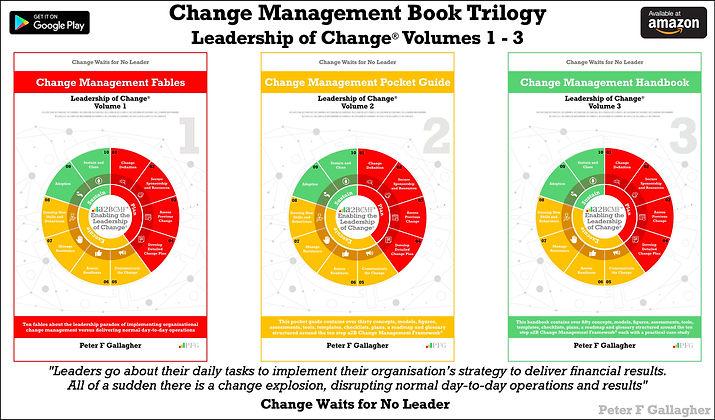 Change Management Book Trilogy - Leadership of Change – Fables - Pocket Guide - Handbook