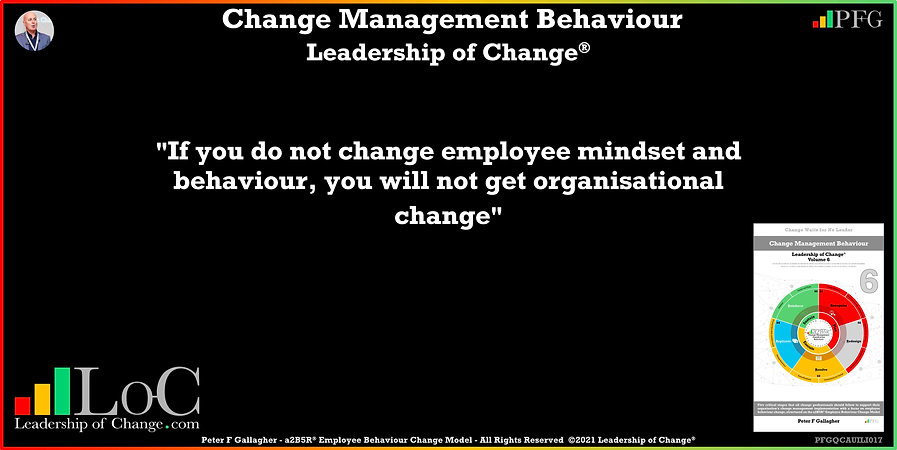 Change Management Behaviour Quotes, Change Management Quotes, Peter F Gallagher, If you do not change employee mindset and behaviour, you will not get organisational change, Peter F Gallagher Change Management Experts, Peter F Gallagher Change Management Speakers, Peter F Gallagher Change Management Global Thought Leaders, change management behaviour book, Leadership of Change,