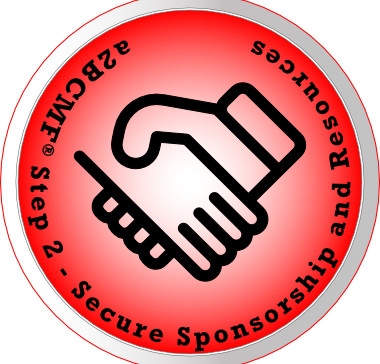 a2B Change Management Framework® (a2BCMF®) - Step #2 Icon: Secure Sponsorship and Resources