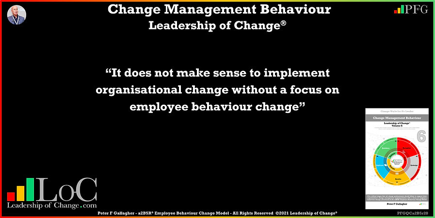 Change Management Behaviour Quotes, Change Management Quotes, Peter F Gallagher, it does not make sense to implement organisational change without a focus on employee behaviour change, Peter F Gallagher Change Management Expert Speaker Though Leader, Peter F Gallagher Change Management Experts Speakers global thought leaders, Peter F Gallagher Change Management keynote speaker, change management behaviour book, Leadership of Change,