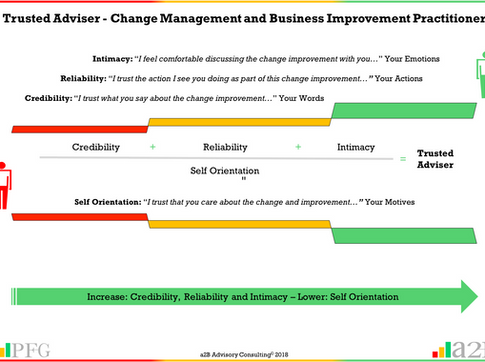 Trusted Adviser - Change Management and Business Improvement Practitioners
