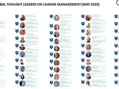 Top 50 Global Thought Leaders and Influencers on Change Management (May 2020)