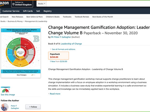 Change Management Gamification Adoption - Volume B  Published on Amazon
