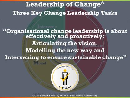 Change Management Leadership - Three Main Responsibilities