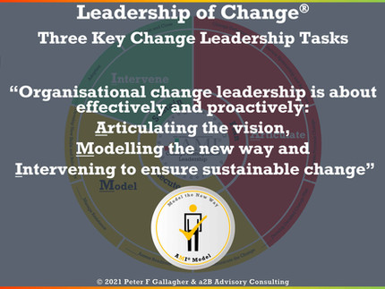 Change Management Leadership - Three Main Responsibilities