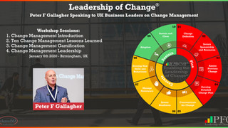 Three60 Leadership - Peter F Gallagher Speaking on Change Management to UK Business Leaders