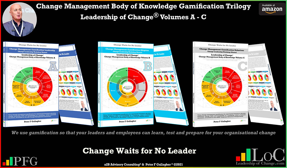 change management gamification book trilogy, change management gamification book trilogy, change management gamification, peter f gallagher, change management gamification leadership, change management gamification adoption, change management gamification Behaviour, learn test and prepare for your organisational change, change management experts, change management speakers, change management global thought leaders,