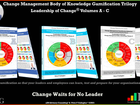 Change Management Body of Knowledge (CMBoK) Gamification Trilogy: Leadership of Change Volumes A-C