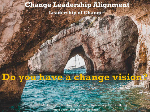Change Leadership Alignment - Do You Have a Change Vision?