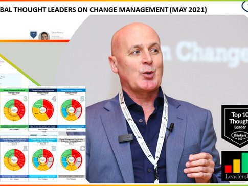 No. 1 Global Thought Leader and Influencer on Change Management (May 2021 & 2020) - Thinkers360