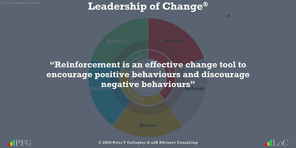 """Change Management Quotes, Change Management Quotes Peter F Gallagher, """"Reinforcement is an effective change tool to encourage positive behaviours and discourage negative behaviours"""" ~ Peter F Gallagher Change, Peter F Gallagher Change Management Expert Speaker and Global Thought Leader,"""