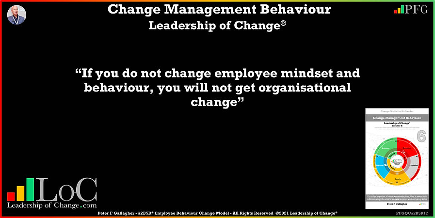 Change Management Behaviour Quotes, Change Management Quotes, Peter F Gallagher, if you do not change employee mindset and behaviour, you will not get organisational change, Peter F Gallagher Change Management Experts Speakers Global Thought Leaders, change management behaviour book, Leadership of Change, Employee Behaviour Change, Change Management Expert Speaker thought leader,