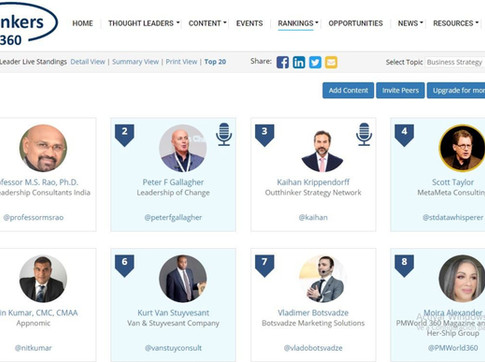 Top 50 Global Thought Leaders and Influencers on Business Strategy (Jun 2020)