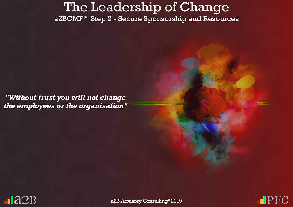 """Peter F Gallagher Change Expert, """" Without trust you will not change the employees or the organisation"""" ~ Peter F Gallagher, The Leadership of Change - Lessons Learned, Is there strategic fit with the change project? - Be very clear on how the change project fits within the organisation's strategy, portfolio and the leadership, #LeadershipOfChange, The leadership paradox - Implementing organisational change management vs. delivering normal day to day operations, Peter F Gallagher International Change Management Speaker,"""