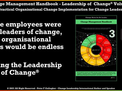 Change Management Handbook - Enabling the Leadership of Change