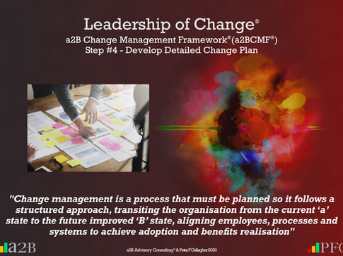 a2B Change Management Framework® (a2BCMF®) Step #4