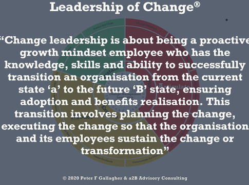 Definition: Change Leadership