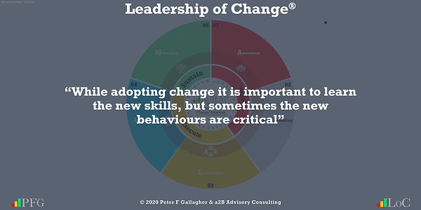 """Change Management Quotes, Change Management Quotes Peter F Gallagher, """"While adopting change it is important to learn the new skills, but sometimes the new behaviours are critical"""" ~ Peter F Gallagher Change, Peter F Gallagher Change Management Expert Speaker and Global Thought Leader,"""