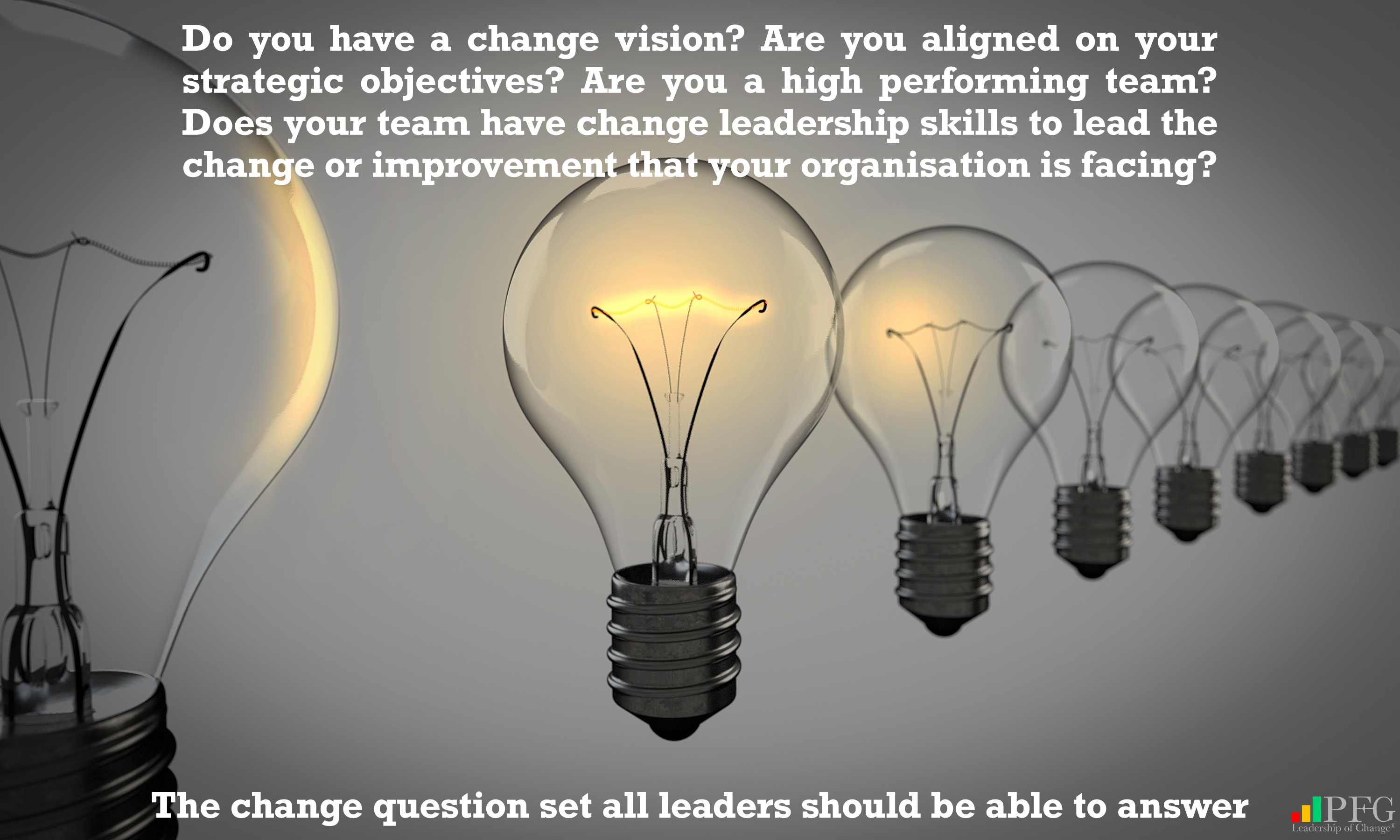 Change Leadership Questions - Peter F Gallagher Change Management Expert