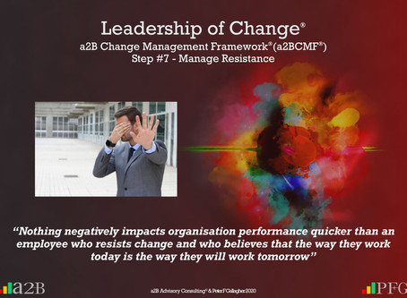 a2B Change Management Framework® (a2BCMF®) Step #7