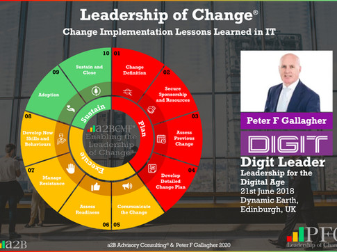 DIGIT Leader Summit - Leadership of Change Conference Speech
