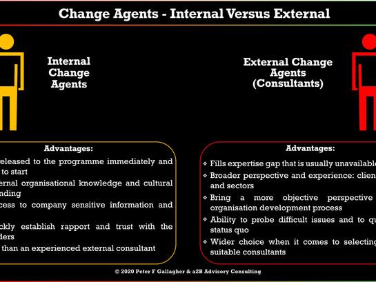 Change Agents – Internal verses External