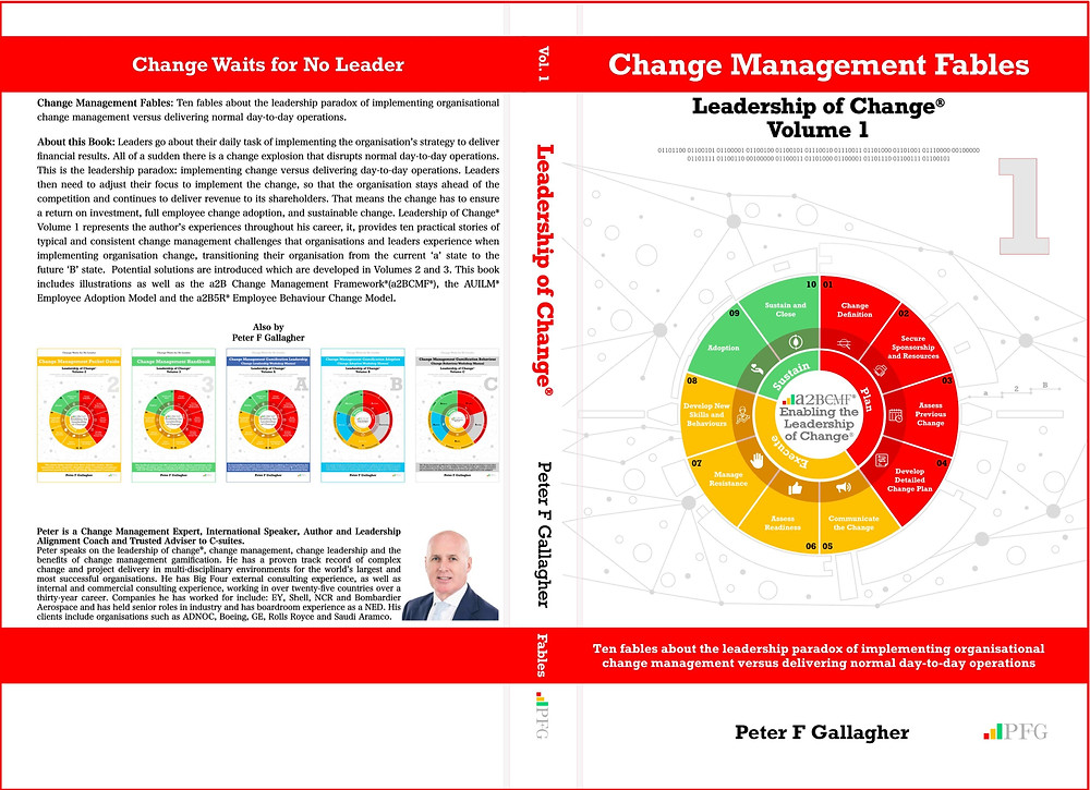 Change Management Fables - Leadership of Change® Volume 1 Change Management Fables: Ten fables about the leadership paradox of implementing organisational change management versus delivering normal day-to-day operations.