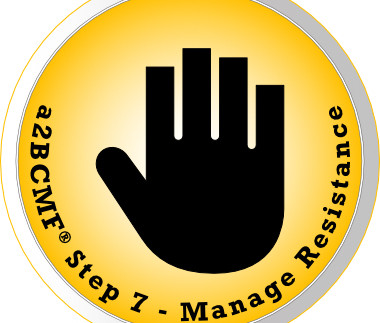 a2B Change Management Framework® (a2BCMF®) - Step #7 Icon: Manage Resistance