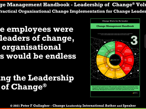 Change Management Handbook - Enabling the Leadership of Change