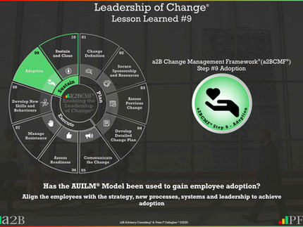 Leadership of Change® - #9 Lesson Learned