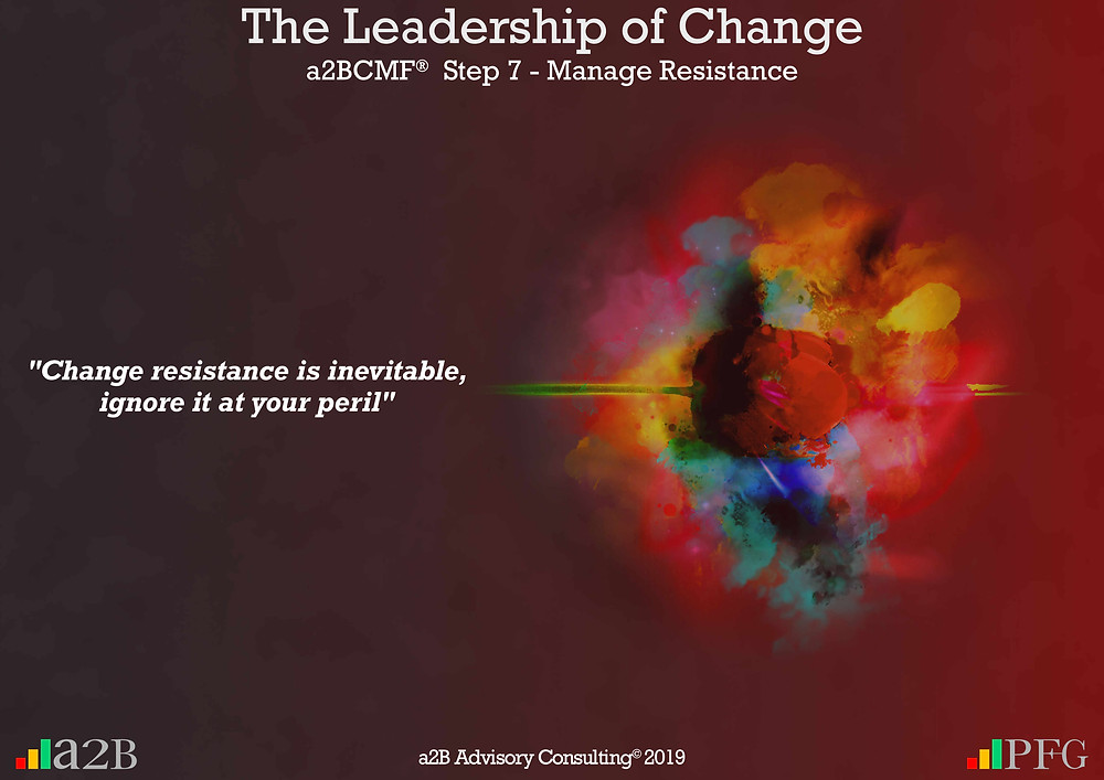 """Peter F Gallagher Change Expert, """"Change resistance is inevitable, ignore it at your peril"""" ~ Peter F Gallagher, The Leadership of Change - Lessons Learned, Is there strategic fit with the change project? - Be very clear on how the change project fits within the organisation's strategy, portfolio and the leadership, #LeadershipOfChange, The leadership paradox - Implementing organisational change management vs. delivering normal day to day operations, Peter F Gallagher International Change Management Speaker,"""