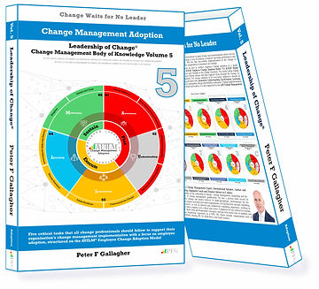 Change Management adoption, change management adoption handbook, Peter F Gallagher, Change Management Body of Knowledge, Leadership of Change Volume 5, Change Management Books, Change Management leadership, Change Management Books, Change Management speakers, five critical tasks change professionals should follow to achieve employee adoption, Change Management Thought Leaders, Change Management Experts, Change Management speaker, Change Management Expert,